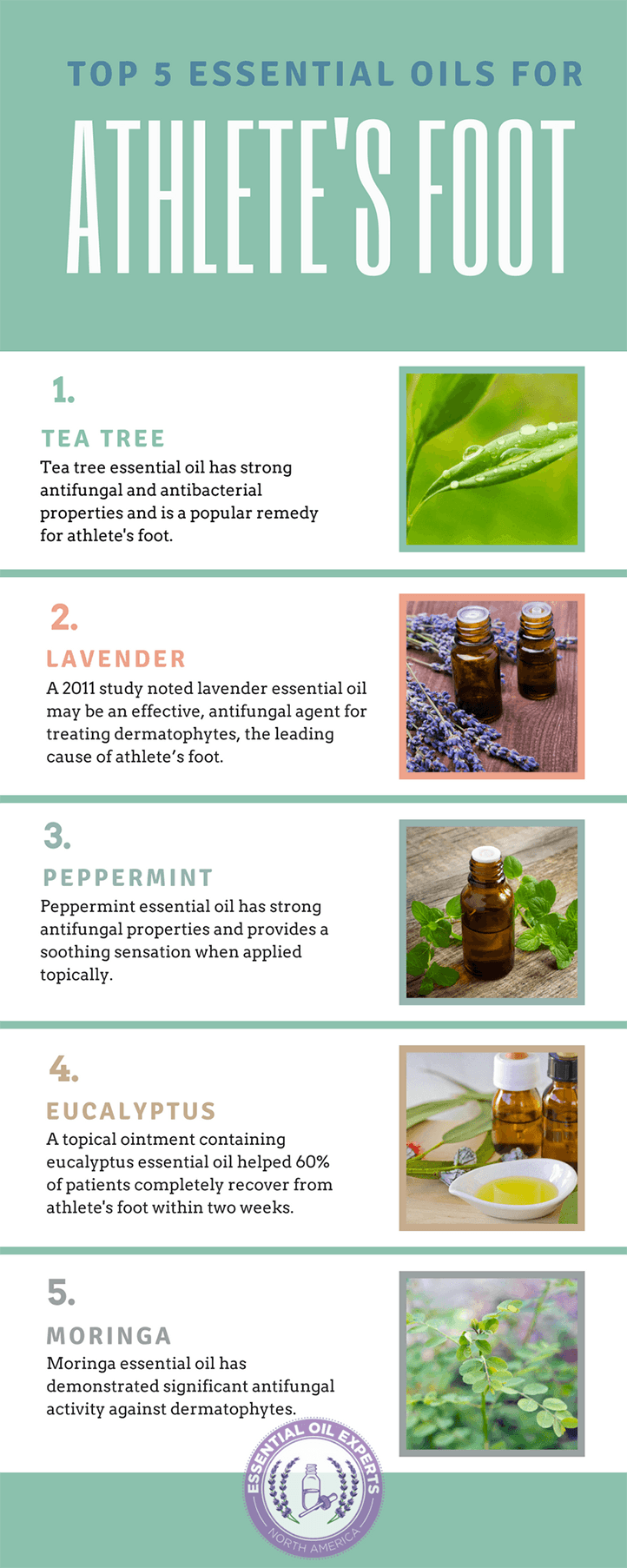 5 Essential Oils For Athlete's Foot - Cure and Home Remedies | EssentialOilExperts.com