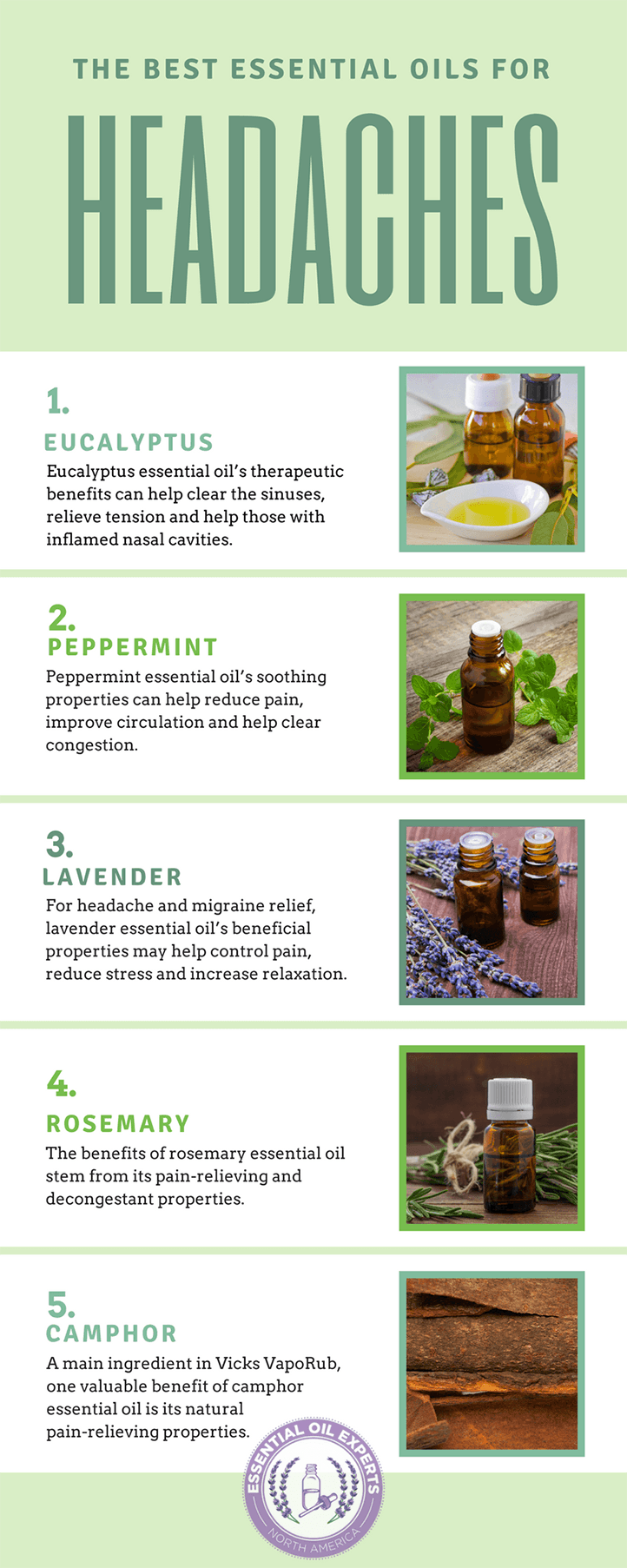Best Essential Oils for Headaches & Migraines | EssentialOilExperts.com